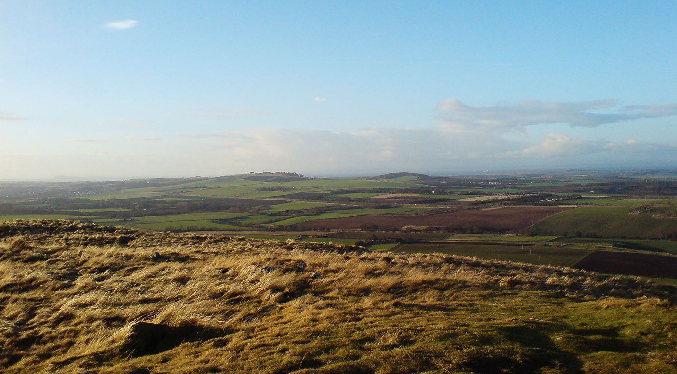 Trappin Law, view across East Lothian countryside