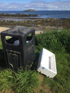 Fish box litter